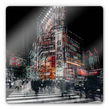Glasbild Chiriaco - Colours of Tokyo