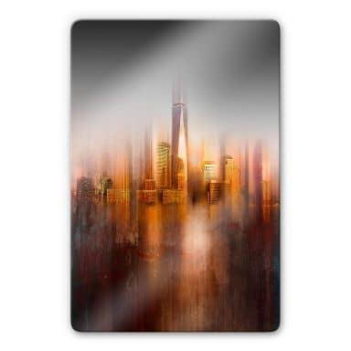 Glasbild Chiriaco - New York im Abendlicht