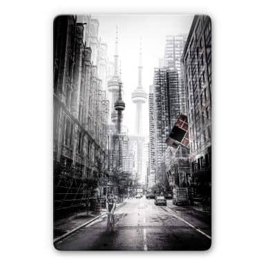 Glasbild Chiriaco - Straßen in Toronto