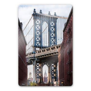 Glasbild Colombo - Brooklyn Bridge