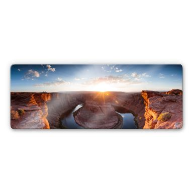 Glasbild Colombo - Das Horsebound am Colorado River - Panorama