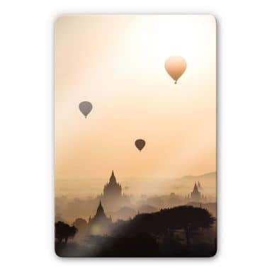Glasbild Colombo - Der Morgen über Bagan