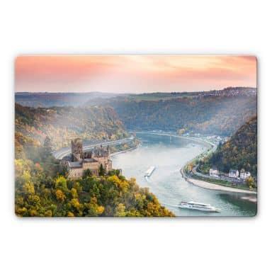 Glasbild Colombo - Der Rhein im Herbst