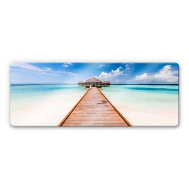 Glasbild Colombo - Der Weg ins Paradies