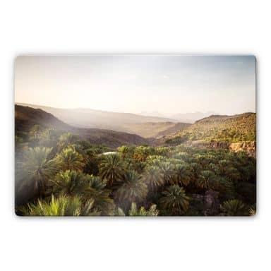 Glasbild Colombo - Oase im Oman