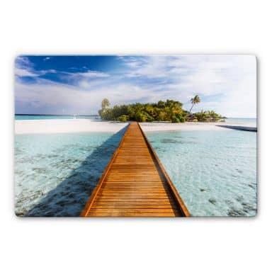 Glasbild Colombo - Paradies in der Südsee
