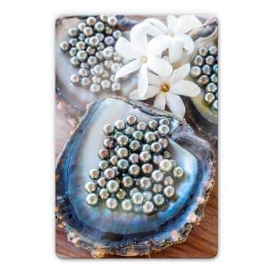 Glasbild Colombo - Schwarze Perlen von Tahiti