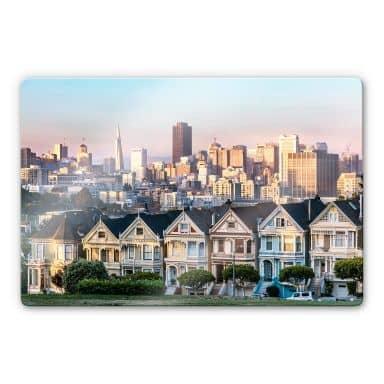Glasbild Colombo - Skyline von San Francisco
