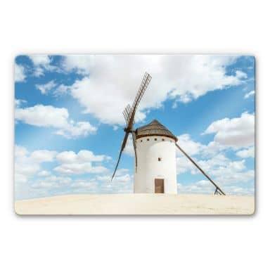 Glasbild  Colombo - Windmühlen auf der Don Quijote Route in Spanien