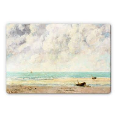 Glasbild Courbet - Die ruhige See