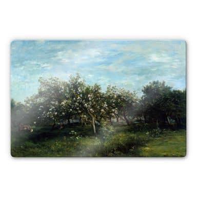 Glasbild Daubigny - Apfelblüte