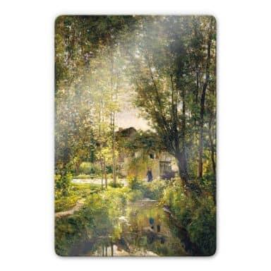 Glasbild Daubigny - Landschaft mit Sonnenlicht
