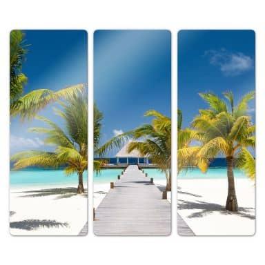 Glasbild Der Weg ins Paradies (3-teilig)