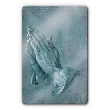 Dürer - Study of Praying Hands Glass art