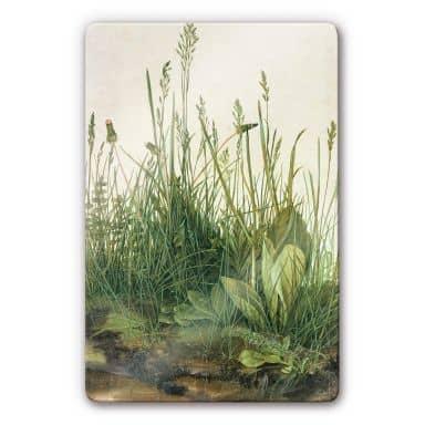 Glasbild Dürer - Das große Rasenstück