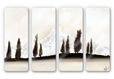 Glasbild Fedrau - Ruhe (4-teilig)