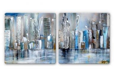 Fedrau - Skyline (2 parts) - Glass Art