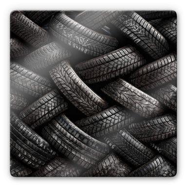 Glasbild Flour - Reifen