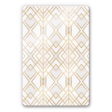 Glass Print Fredriksson - Golden Geometry