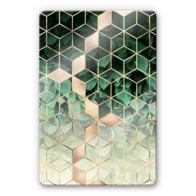Glasbild Fredriksson - Natur trifft auf Geometrie
