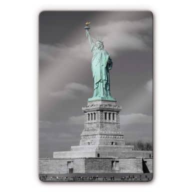Glasbild Freiheitsstatue