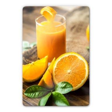 Glasbild Frischer Orangensaft