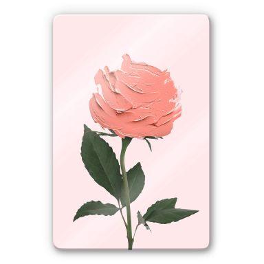 Glasbild Fuentes - Rosenmalerei