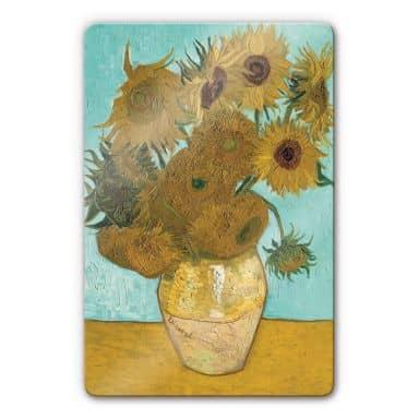 van Gogh - Sunflowers Glass art