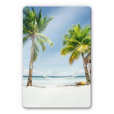 Glasbild  - Hammock in Paradise