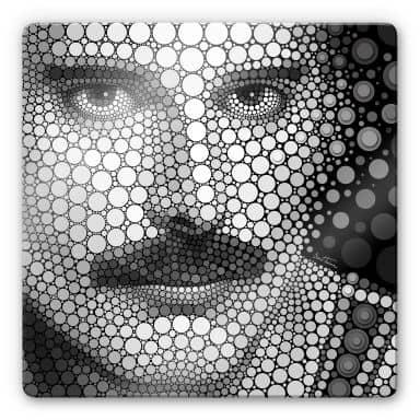Glasbild Ben Heine - Circlism: Freddy Mercury