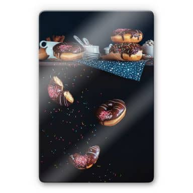 Glasbild Belenko - Donuts from the top