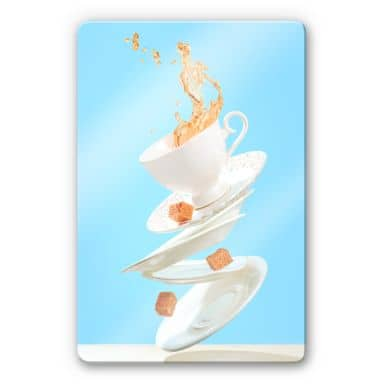 Glass Print Belenko - Dancing Coffee