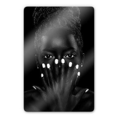 Glasbild Wuttke - Black and White 02