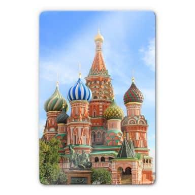 Glasbild St. Basilius Kathedrale Moskau