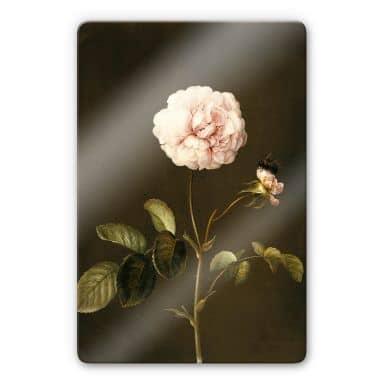 Dietzsch - French Rose with Hummel Glass art