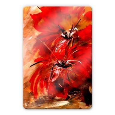 Glasbild Niksic - Feuerblumen