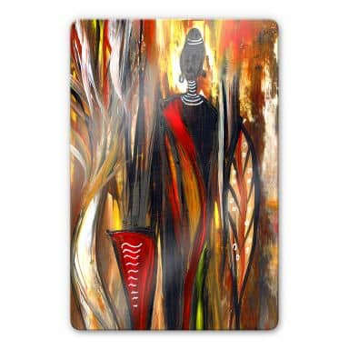 Glasbild Niksic - Art of Africa 02