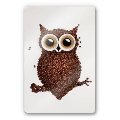 Coffee Owl Glass art