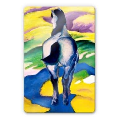 Glasbild Marc - Blaues Pferd II