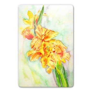 Toetzke - Gladiolus Buquet in Yellow - Glass Art