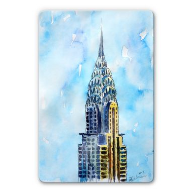 Glasbild Bleichner - Chrysler Building in NYC