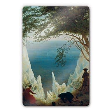 Glasbild Friedrich - Die Kreidefelsen von Rügen