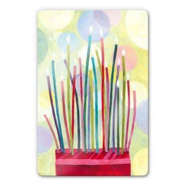 Glasbild Blanz - Geburtstagskerzen