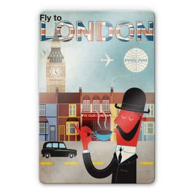 Glasbild PAN AM - Fly to London