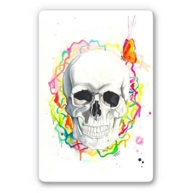 Glasbild Buttafly - Skull