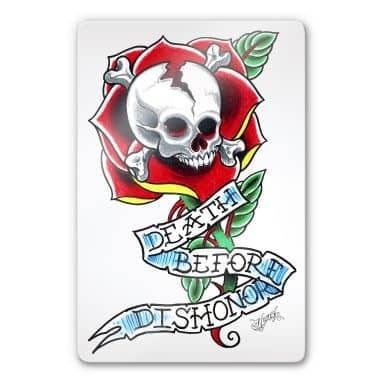 Tableau en verre - Miami Ink -Death Before Dishonor