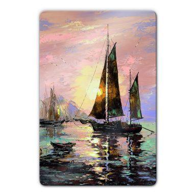 Sailing Boat Glass art