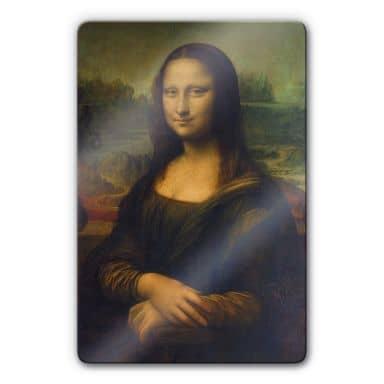 Glasbild da Vinci - Mona Lisa