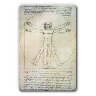 Glasbild da Vinci - Proportionszeichnung