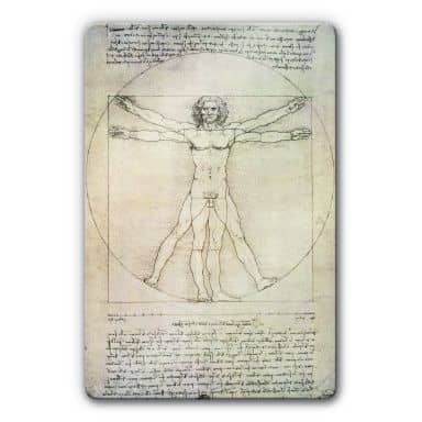 da Vinci - The Vitruvian Man Glass art